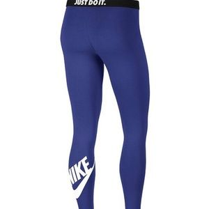 Nike Leg-A-See leggings royal blue